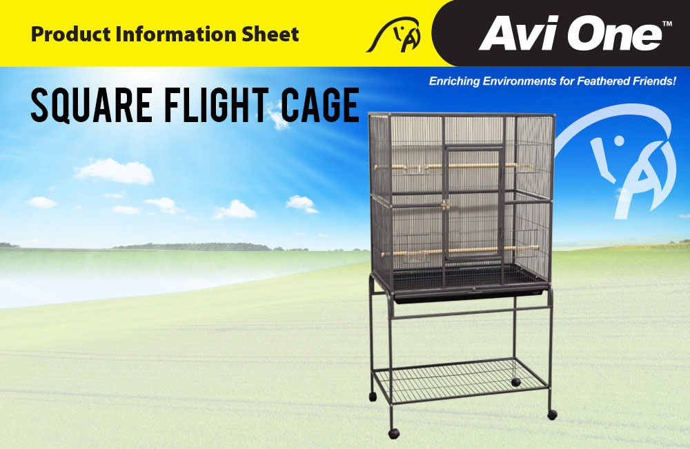 Square Flight Cage
