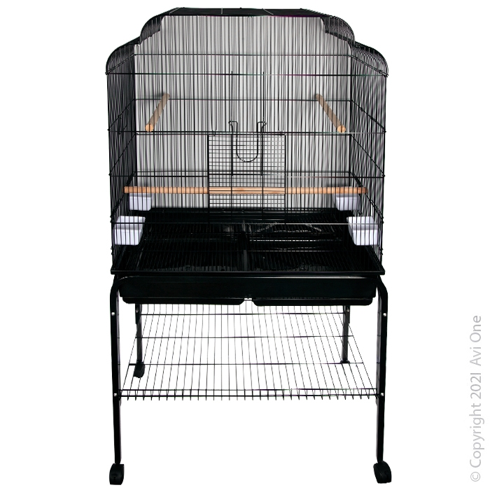 Parrot Toy Wooden Fan with Beads Bird Toy 53cm