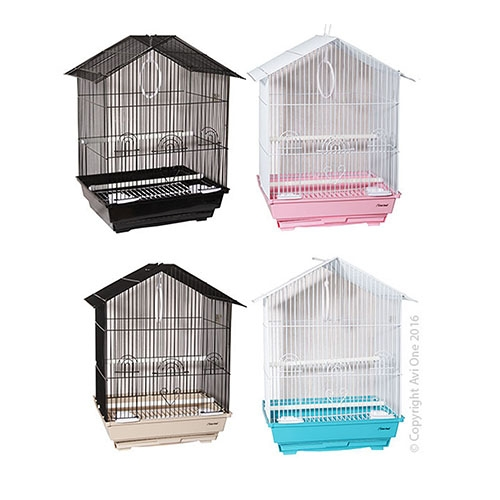 Bird Toy Arc With Plastic Disc And Beads 28Cm