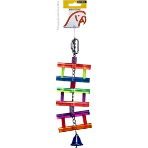 Bird Toy Rattan Balls Wooden Beads and Pumice 33CM