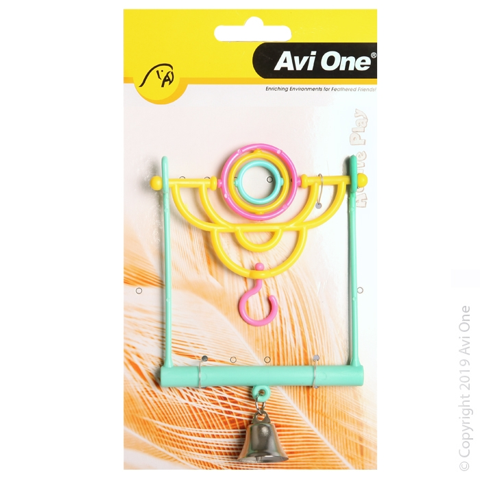 Bird Toy Wooden Blocks and Corrugated Board with Beads 34CM