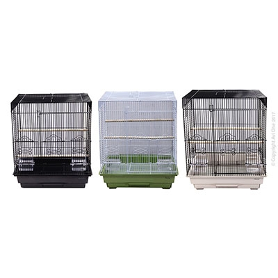 Bird Toy Triangle Pyramid With Mirror Beads And Bell 16Cm