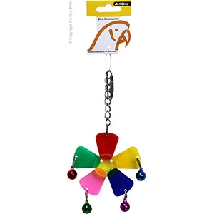 Bird Toy Mineral with Plastic Links Medium 15.5CM