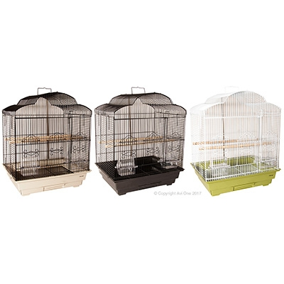 Bird Toy Paper Rings With Wooden Beads 43Cm