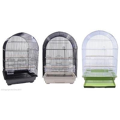 Bird Toy Paper Rings With Wooden And Plastic Beads 27Cm
