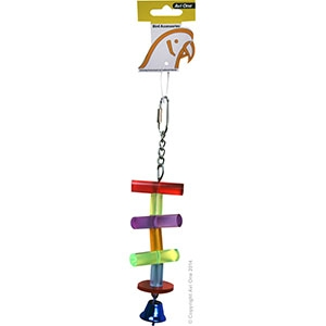Bird Toy Mineral with Plastic Links Large 16CM